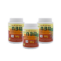 Combo 3 hủ phân bón kích thích ra rễ dưỡng rễ N3M 100g - Root Stimulator Fertilizer