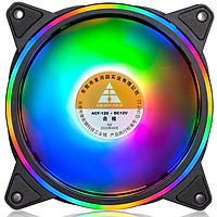 Quạt tản nhiệt, Fan Case Led Golden Field  Ring+inner RGB (FIX) - S01   RGB cao cấp , các mầu cố định hiệu ứng _ Hàng chính hãng