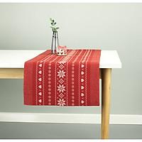 Khăn trải bàn JYSK Girlander vải cotton màu đỏ 40x150cm