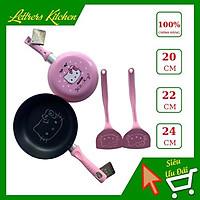 Chảo chống dính nhập khẩu cao cấp Hello Kitty màu đỏ/ hồng size 20cm, 22cm, 24 cm