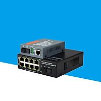 Bộ chuyển đổi quang điện Netlink 1 ra 8 Cổng LAN HTB-3100/HL-SF1008D - Hàng Nhập Khẩu