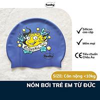 Nón bơi trẻ em cao cấp 100% nhập khẩu từ Đức thương hiệu Fashy tiêu chuẩn chất lượng Châu Âu, chất liệu silicone mềm mại, thiết kế thời trang Freesize dành cho bé trai, bé gái hình sinh vật biển