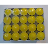 Nến tealight không mùi không khói thời gian cháy 4 giờ (100 viên) - Vàng