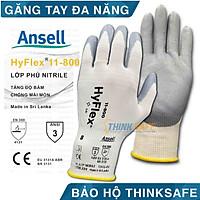 Găng tay đa năng Ansell Hyflex 11-800 bao tay chống dầu nhớt, ôm sát tay, độ khéo léo cao, bao tay bảo hộ lao động cơ khí, kỹ thuật chính xác (Pro Code: 11800080, 11800090)