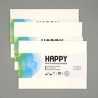 Combo 3 Tệp Giấy Vẽ Màu Nước Happy Artists' Watercolor Paper 300gsm