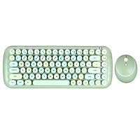 Mofii CANDY Keyboard Mouse Combo Wireless 2.4G Mixed Color 84 Key Mini  Keyboard Mouse Set with Circular Punk Key Caps