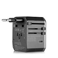 Adapter cóc củsạc nhanhdu lịch 6 in 1 đa năng hiệu Benks Travel (hỗ trợ mọi ổ cắm mọi quốc giatrên thế giới, sạc nhanh 5.6A) - Hàng nhập khẩu