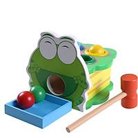 Đập bóng chú ếch xanh kèm khay đồ chơi gỗ