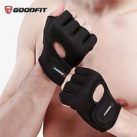 Găng tay nửa ngón tập gym, găng tay thể thao nam nữ thoáng khí GoodFit GF202G