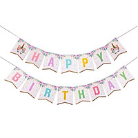 Dây chữ Happy Birthday hình Unicorn trang trí sinh nhật