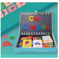 Hộp Ghép Chữ Cái giúp bé học từ vựng Tiếng Anh, đồ chơi giáo dục, Montessori