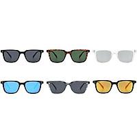 Women Men Retro Style Square Frame UV400 Sunglasses for Outdoor Wear