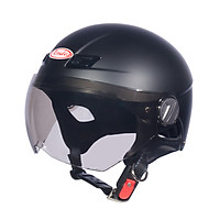 Mũ Bảo Hiểm Andes Nửa Đầu Có Kính - 3S109KM Nhám - Đen