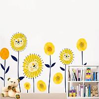 Decal dán tường hoa mặt trời hoạt hình ZOOYOO XH-9292