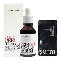 Tinh chất tái tạo da sinh học So Natural Red Peel Tingle Serum – Tái tạo da 35ml+ Tặng kèm 1 mặt nạ sủi bọt Su:m 37 Đen