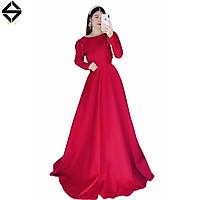 Đầm maxi mặc cưới tay dài hở lưng kết dây cườm TRIPBLE T DRESS - size M/L ( ảnh/video thật) - MS159Y