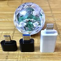 Đèn Led Nháy Theo Nhạc Mini Bar Dùng Điện Cắm Cổng USB hoặc Điện Trực Tiếp Từ Điện Thoại - Tặng 3 đầu jack chuyển đổi