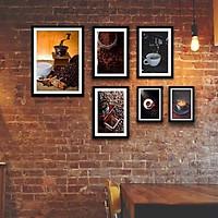 Bộ khung ảnh treo tường composite cà phê tặng đinh 3 chân  KA242