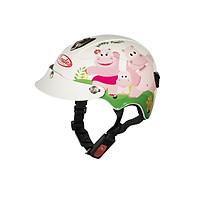Mũ Bảo Hiểm Andes Trẻ Em Có Kính - 3S108SK Tem Bóng S100 - Trắng