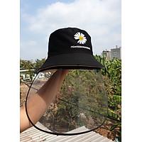 Mũ nón chống virus, chống bụi có tấm chắn, vải 2 lớp 2 mặt form bucket
