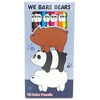 Chì Màu Dài We Bare Bears 218 - Mẫu 1 - Bao Bì Màu Tím