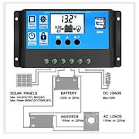Điều khiển sạc pin năng lượng mặt trời 12V 24V 30A tự nhận bình