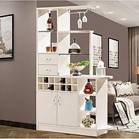 Tủ, kệ trang trí kiêm vách ngăn phòng bằng gỗ cao cấp TUR037-1