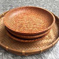 Dĩa gỗ dừa- Dĩa tròn gỗ dừa- Coconut Wood Plate