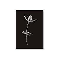 Sổ tay Sketchbook - Sổ vẽ - Ruột trơn (15x21cm) - Hoa đen