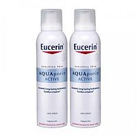 Eucerin Combo 2 Xịt Dưỡng Ẩm Chống Lão Hóa Aquaporin Active 150ml
