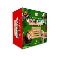 Sách - Boxset Cùng Bé Khám Phá Thế Giới Xung Quanh - bìa xanh  - Song Ngữ Anh-Việt  (5 cuốn ) (Bìa Cứng)