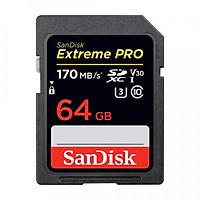 Thẻ nhớ SDXC SanDisk Extreme Pro U3 V30 1133x 64GB SDSDXXY-064G-GN4IN 170MB/s - Hàng Chính Hãng