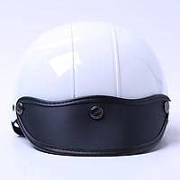 Mũ Bảo Hiểm 1/2 Chita - Trắng Sơn Bóng (Size M)