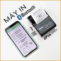 Máy in hóa đơn Bluetooth dPos DM01 in thẻ cào ViettelPay Pro, Bill Kiotviet, Sapo, Loyverse