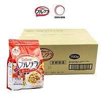 [Thùng 6 gói] 700g Ngũ cốc trái cây Calbee Nhật Bản