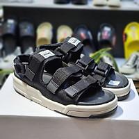 Giày Sandal 2 Quai Ngang Vento SD1001 Đen Đế Ghi