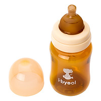 Bình Sữa I-Byeol Cổ Rộng Nano Silver - Nâu (260ml)