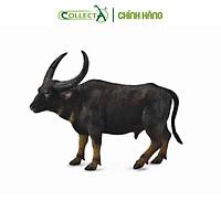 Mô hình thu nhỏ: Trâu rừng - Wild Water Buffalo, hiệu: CollectA, mã HS 9650050[88657] -  Chất liệu an toàn cho trẻ - Hàng chính hãng