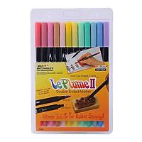 Bộ Bút Lông Hai Đầu Marvy 1122-12B (12 Màu Pastel Set)