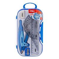 Bộ Dụng Cụ Eke Hộp Nhựa Chì Gỗ Deli G30204 (8 món) - Giao Màu Ngẫu Nhiên