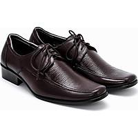 Giày da nam Huy Hoàng da bò màu nâu đỏ HT7112