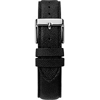 Đông hồ Dây Da Timex Nam Nữ Southview 41mm Silver-tone Case White Dial Black Leather Strap - TW2T34700