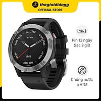 Đồng hồ thông minh Garmin Fenix 6 dây silicone đen - Hàng chính hãng
