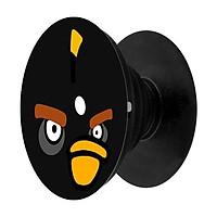 Popsocket in dành cho điện thoại mẫu Angry Đen - Hàng chính hãng