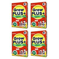 BỘ 4 HỘP SỮA NUTIFOOD GROW PLUS ĐỎ DÀNH CHO TRẺ BỊ SUY DINH DƯỠNG THẤP CÒI - HỘP GIẤY 400G