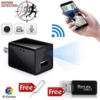 Củ sạc điện thoại WiFi Camerra 4K - Camera WiFi 4K FullHD 1080p giám sát từ xa trên điện thoại