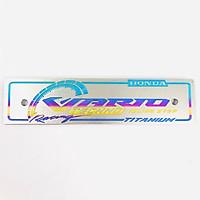 Bảng tên titanium cho xe Vario