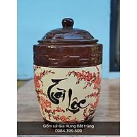 Hũ đựng gạo 15kg gốm sứ  Bát Tràng