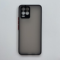 Ốp lưng cứng nhám mờ viền silicon bảo vệ camera cho Oppo Realme 8/ Realme 8 Pro