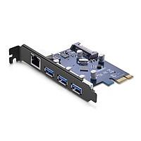 Card PCI Express sang 3 cổng USB 3.0 + Lan Gigabit 10/100/1000Mbps UGREEN US230 30775 - Hàng chính hãng